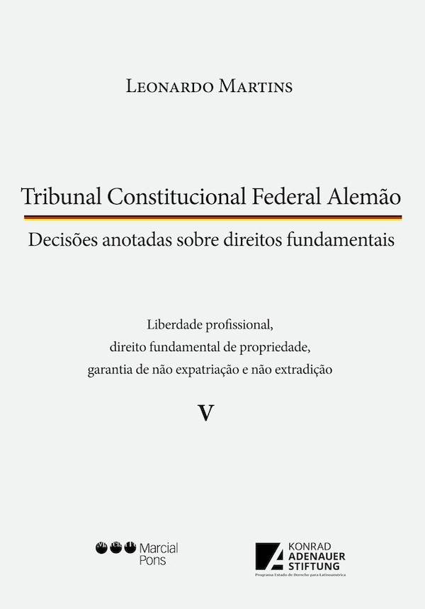 Capa do livro Tribunal Constitucional Federal Alemão volume 5