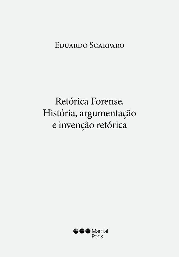 Capa do livro Retórica Forense